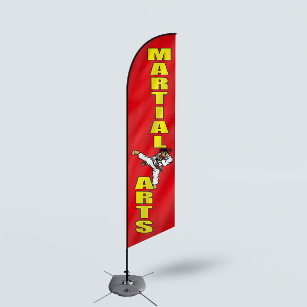 Sinonarui Martial Arts Low Price Hot Selling Custom Pattern Beach Flags Feather Flags