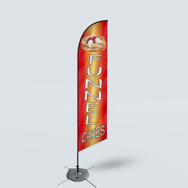 Sinonarui Funnel Cakes Low Price Hot Selling Custom Pattern Beach Flags Feather Flags