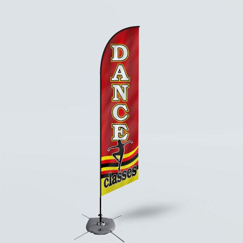 Sinonarui Dance Classes Low Price Hot Selling Custom Pattern Beach Flags Feather Flags