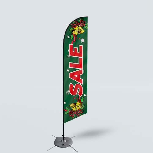 Sinonarui Christmas Sale Low Price Hot Selling Custom Pattern Beach Flags Feather Flags