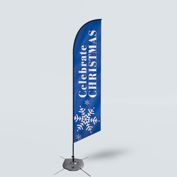 Sinonarui Celebrate Christmas Low Price Hot Selling Custom Pattern Beach Flags Feather Flags