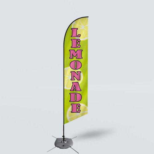 Sinonarui Lemonade Low Price Hot Selling Custom Pattern Beach Flags Feather Flags