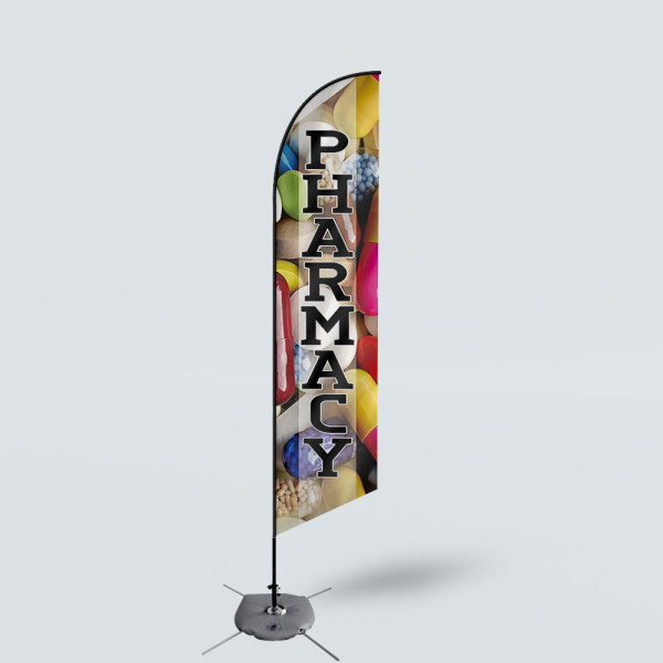 Sinonarui Pharmacy Low Price Hot Selling Custom Pattern Beach Flags Feather Flags