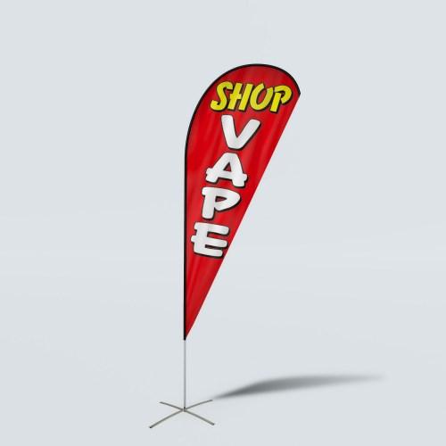 Sinonarui Stop Vape Low Price Hot Selling Custom Pattern Beach Flags Teardrop Flags
