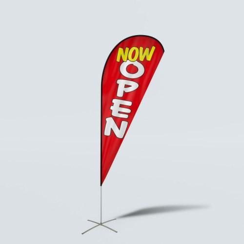 Sinonarui Now Open Low Price Hot Selling Custom Pattern Beach Flags Teardrop Flags