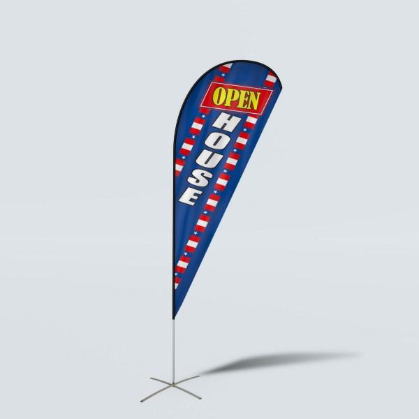 Sinonarui Open House Low Price Hot Selling Custom Pattern Beach Flags Teardrop Flags