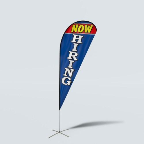 Sinonarui Now Hiring Low Price Hot Selling Custom Pattern Beach Flags Teardrop Flags