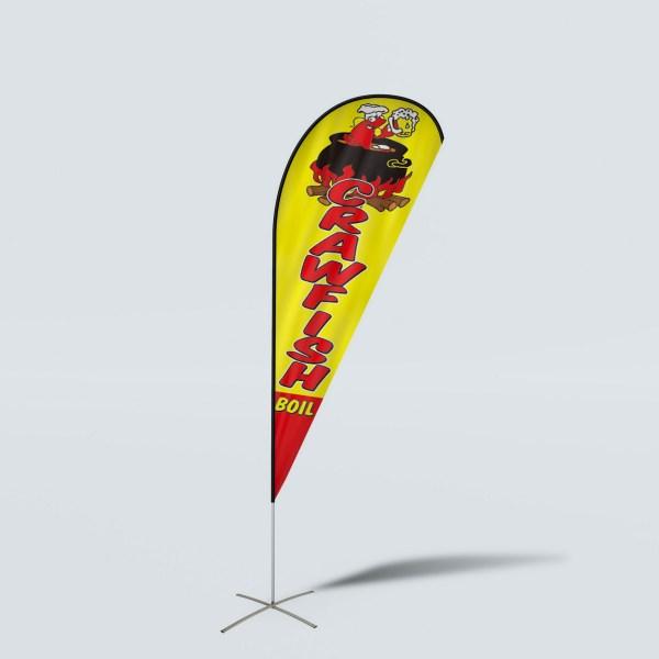 Sinonarui Crawfish Boil Low Price Hot Selling Custom Pattern Beach Flags Teardrop Flags