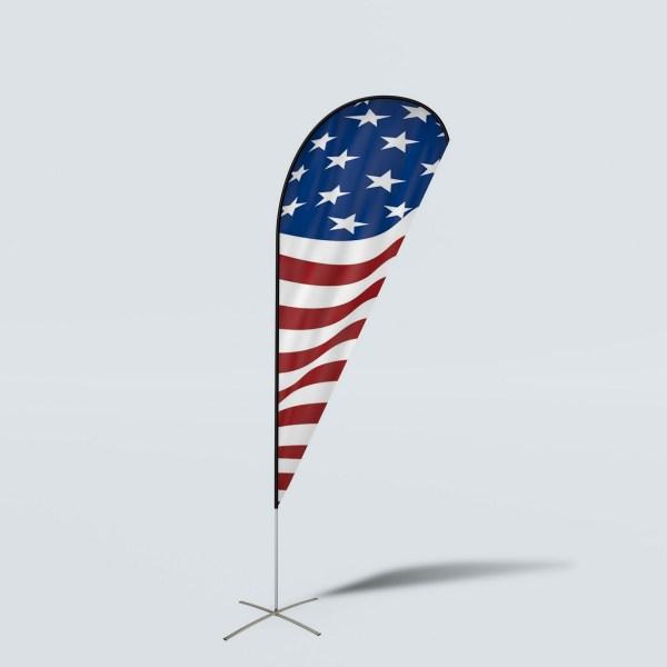 Sinonarui America Flag Low Price Hot Selling Custom Pattern Beach Flags Teardrop Flags