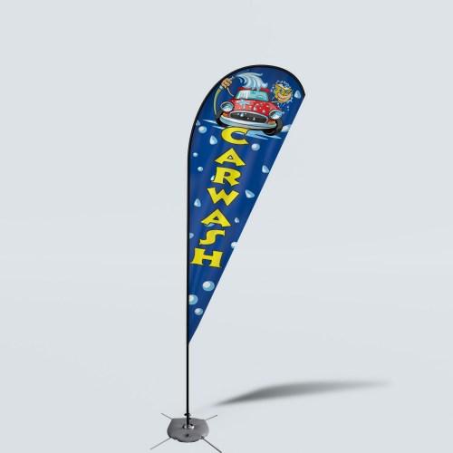 Sinonarui Carwash Low Price Hot Selling Custom Pattern Beach Flags Teardrop Flags