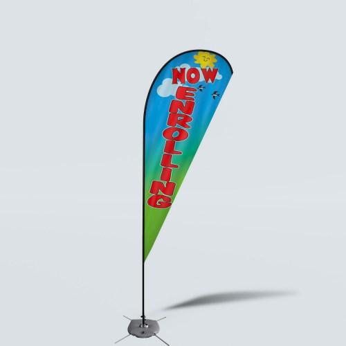 Sinonarui Now Enrolling Low Price Hot Selling Custom Pattern Beach Flags Teardrop Flags