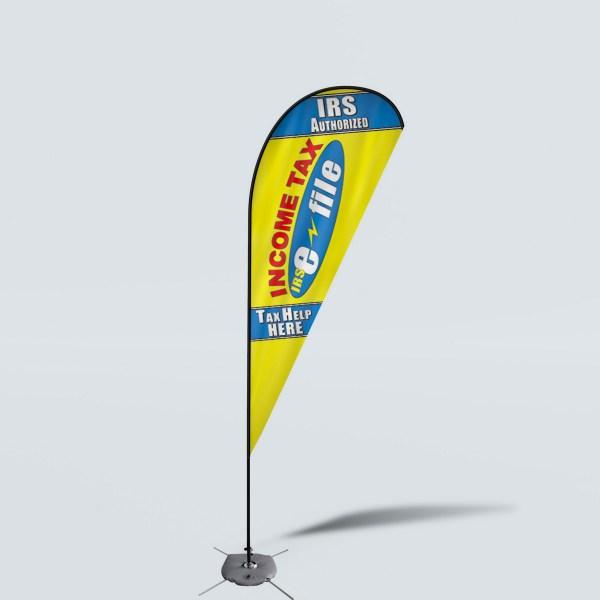 Sinonarui Tax Help Here Low Price Hot Selling Custom Pattern Beach Flags Teardrop Flags