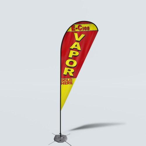 Sinonarui Vapor Sold Here Low Price Hot Selling Custom Pattern Beach Flags Teardrop Flags