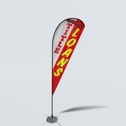 Sinonarui Title Loans Low Price Hot Selling Custom Pattern Beach Flags Teardrop Flags