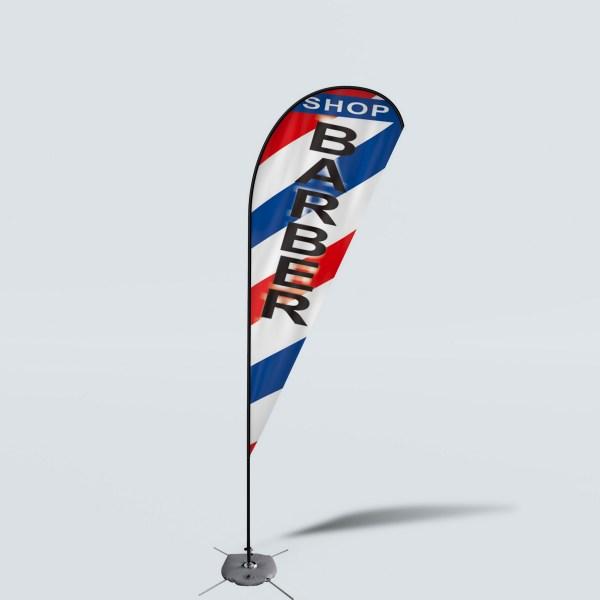 Sinonarui Shop Barber Low Price Hot Selling Custom Pattern Beach Flags Teardrop Flags