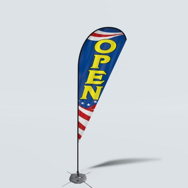 Sinonarui Open Low Price Hot Selling Custom Pattern Beach Flags Teardrop Flags