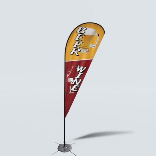 Sinonarui Beer Wine Low Price Hot Selling Custom Pattern Beach Flags Teardrop Flags
