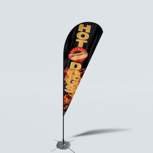 Sinonarui Hot Dogs Low Price Hot Selling Custom Pattern Beach Flags Teardrop Flags