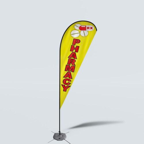 Sinonarui Pharmacy Low Price Hot Selling Custom Pattern Beach Flags Teardrop Flags