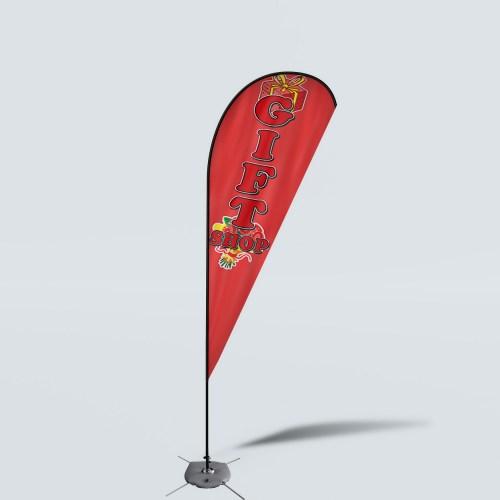 Sinonarui Gift Shop Low Price Hot Selling Custom Pattern Beach Flags Teardrop Flags