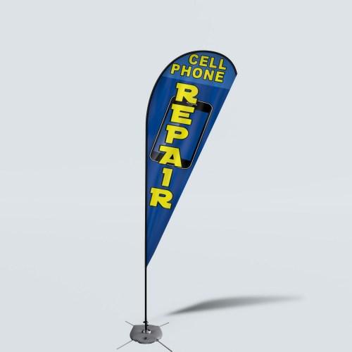 Sinonarui Cell Phone Repair Low Price Hot Selling Custom Pattern Beach Flags Teardrop Flags