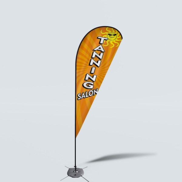 Sinonarui Tanning Salon Low Price Hot Selling Custom Pattern Beach Flags Teardrop Flags