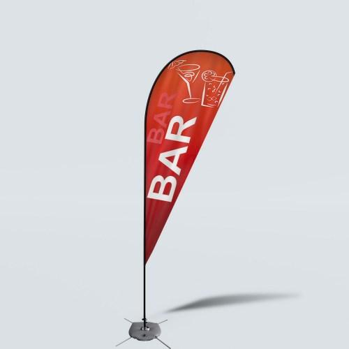 Sinonarui Bar Low Price Hot Selling Custom Pattern Beach Flags Teardrop Flags