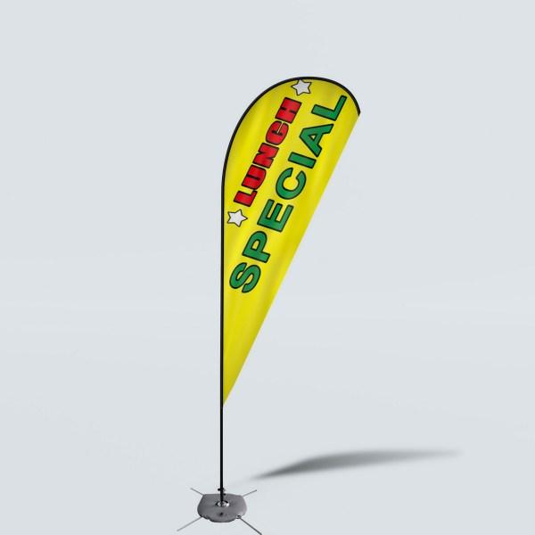 Sinonarui Lunch Special Low Price Hot Selling Custom Pattern Beach Flags Teardrop Flags
