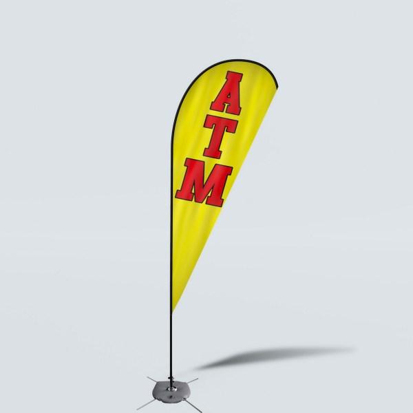 Sinonarui ATM Low Price Hot Selling Custom Pattern Beach Flags Teardrop Flags