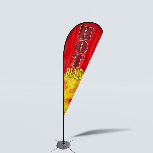 Sinonarui Hot Deals Low Price Hot Selling Custom Pattern Beach Flags Teardrop Flags