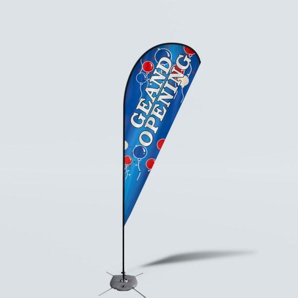 Sinonarui Grand Opening Low Price Hot Selling Custom Pattern Beach Flags Teardrop Flags