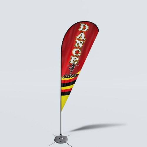 Sinonarui Dance Classes Low Price Hot Selling Custom Pattern Beach Flags Teardrop Flags