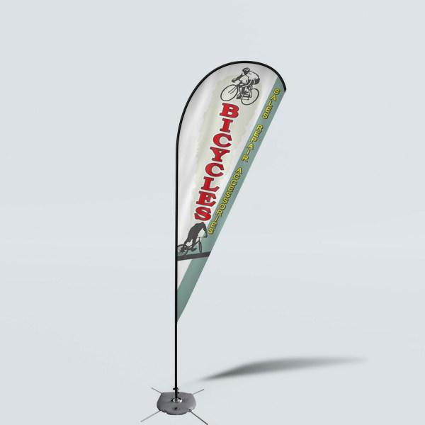 Sinonarui Bicycles Low Price Hot Selling Custom Pattern Beach Flags Teardrop Flags