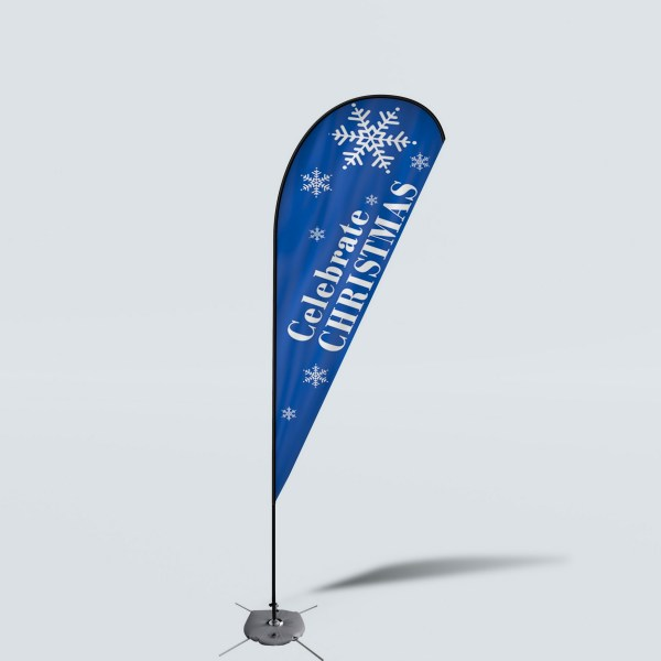 Sinonarui Celebrate Christmas Low Price Hot Selling Custom Pattern Beach Flags Teardrop Flags