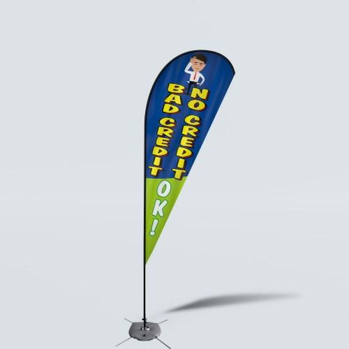 Sinonarui Bad Credit No Credit Low Price Hot Selling Custom Pattern Beach Flags Teardrop Flags