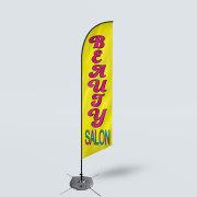 Sinonarui Beauty Salon Low Price Hot Selling Custom Pattern Beach Flags Feather Flags