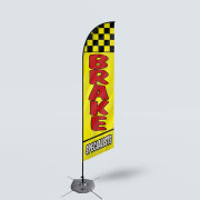 Sinonarui Brake Specialists Low Price Hot Selling Custom Pattern Beach Flags Feather Flags