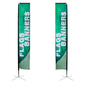 Custom large size beach flag banner feather rectangular flag