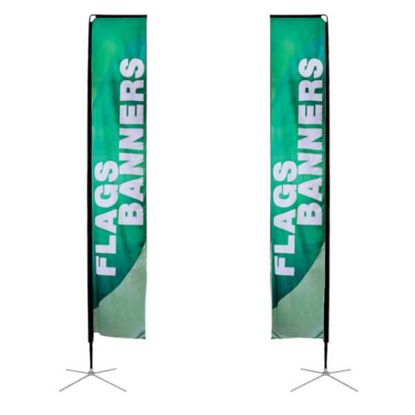 Cheap Custom Double Printing Advertising Feather Flags Rectangular Flag