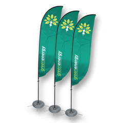 Hot Sale Durable Double Sided Beach Flag Flying Teardrop Flags