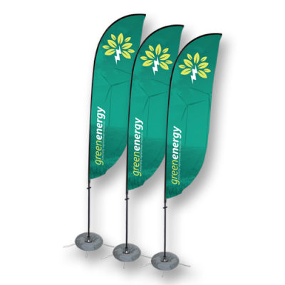 Hot Sale Durable Double Sided Beach Flag Flying Teardrop Flags