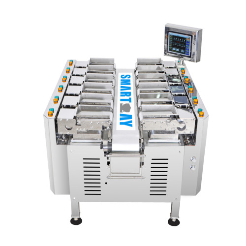 12 Head Linear Combination Weigher Semi Auto Weighing Scale Combination Weigher