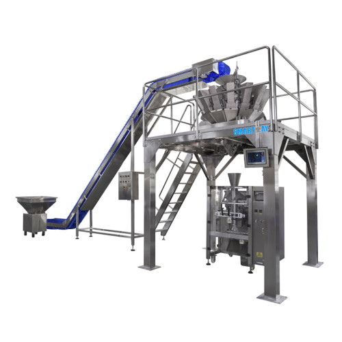 Multihead Weigher Vertical Packing Line Chips Packing Machine Popcorn Packaging Line