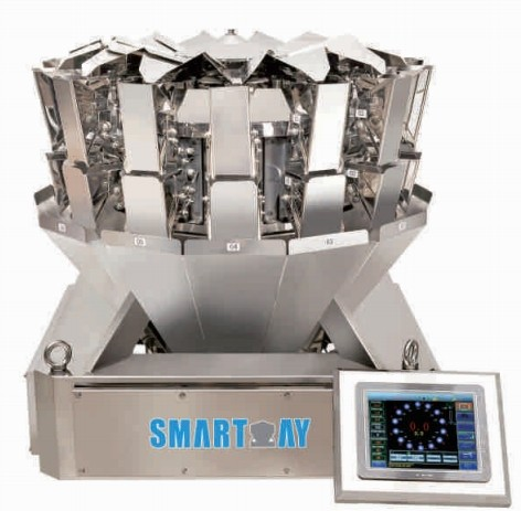 Mini 10/14 Head Multihead Weigher Weighing Scale Small Scale Weigher 0.5L Multihead Weigher