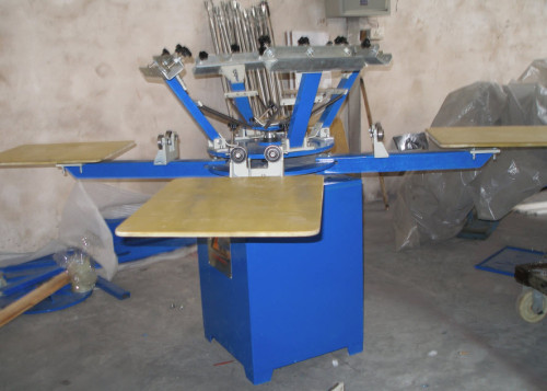 SPM Series 4 Colors Manual Textile Screen Printing Machine For Non-woven Bags