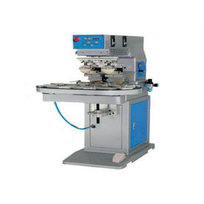 Two-color pad printing machine with conveyor