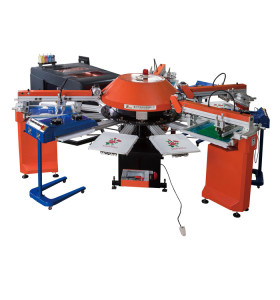 SPG Automatic Screen Printing Machine With YZ Digital Printer