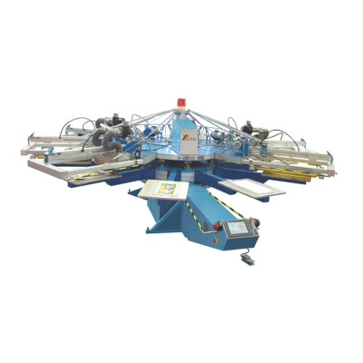 SPA Automatic Computerized UV Screen Printer/Automatic Carousel Screen Printing Machine