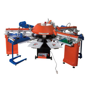 SPG automatic T-shirt carousel screen printing machine