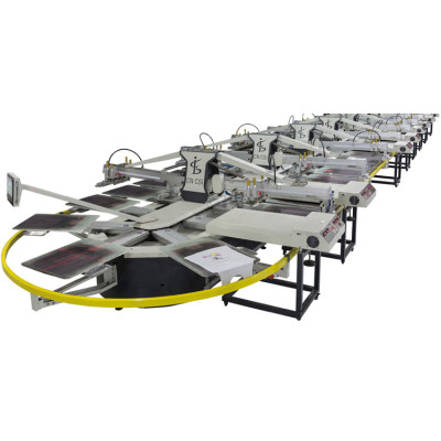 SPO Series Automatic Oval Type Screen Printing Machine For Clothes